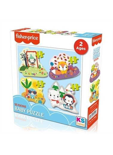 KS Puzzle Fisher Price Baby Mevsimler Şekilli Yapboz  2+3+4+4 Parça Renkli
